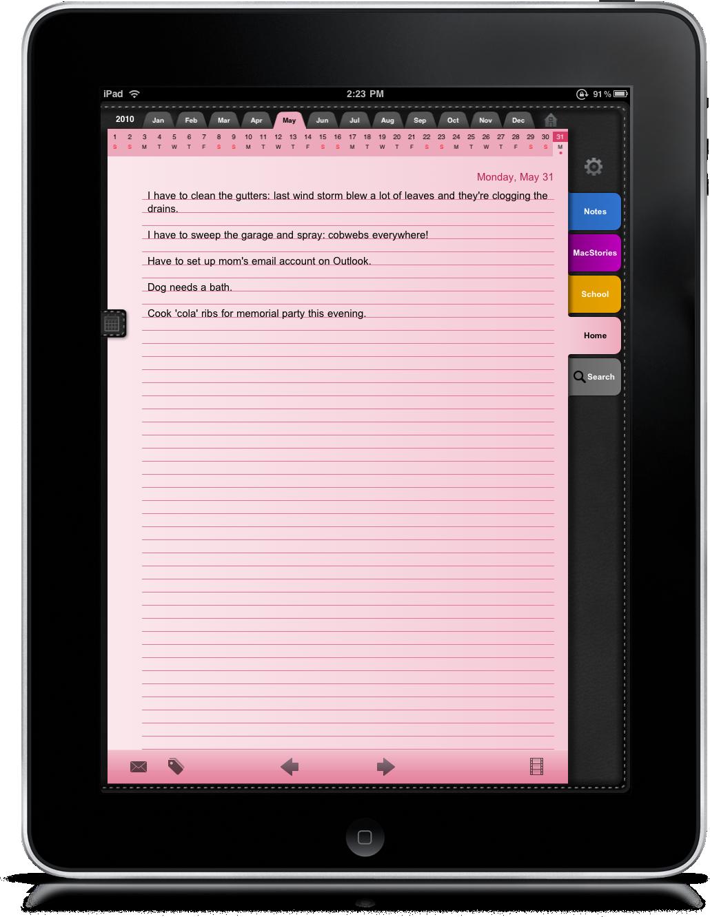 Daily Notes iPad