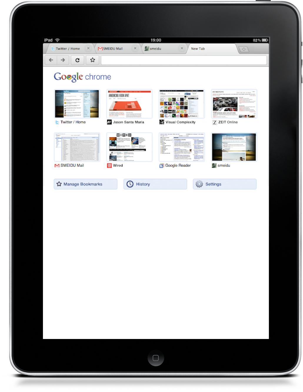 google chrome mockup for ipad is absolutely gorgeous