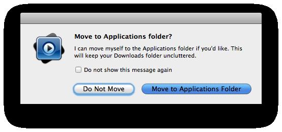 MPlayer Move Applications Folder
