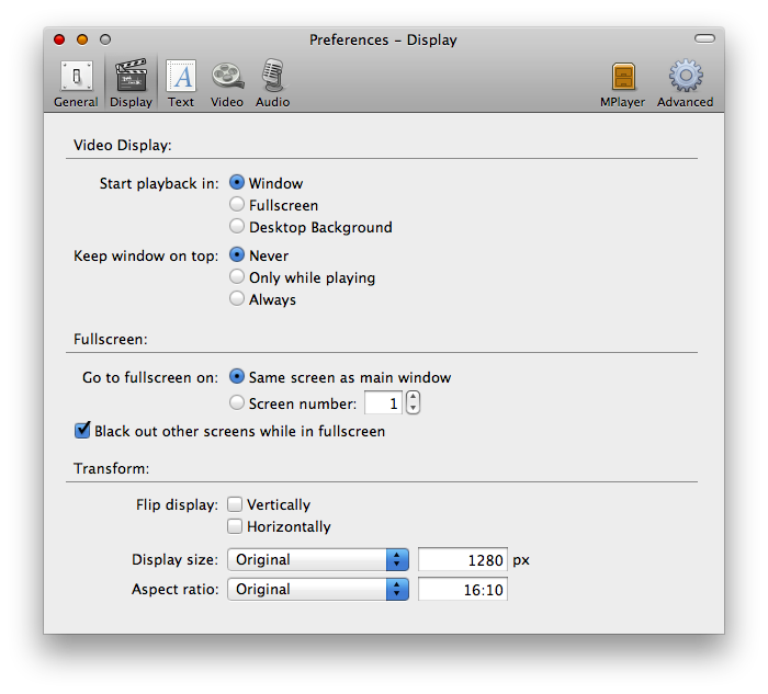MPlayer Preferences