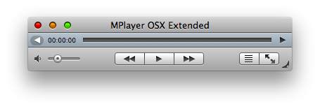 MPlayer Mac OS X