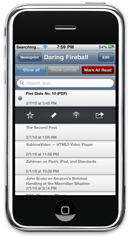 Newsprint iPhone