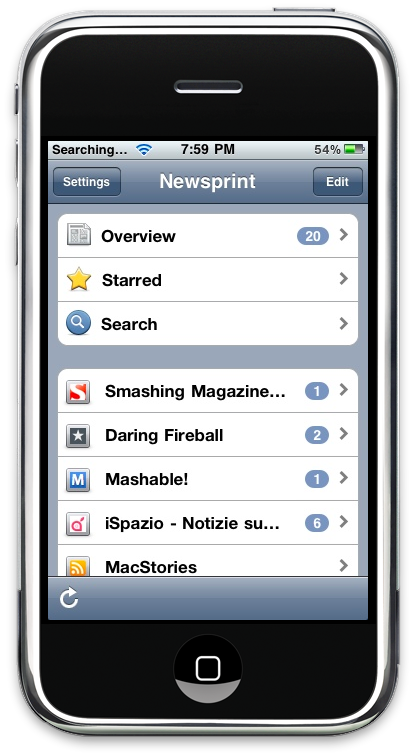 Newsprint iPhone