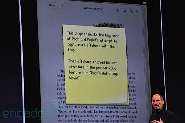 iBooks Sticky Notes